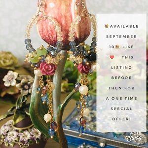 💐Vintage Inspired Crystal Floral Boho Earrings